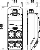 Rysunek - Rozdzielnica stacjonarna IP44